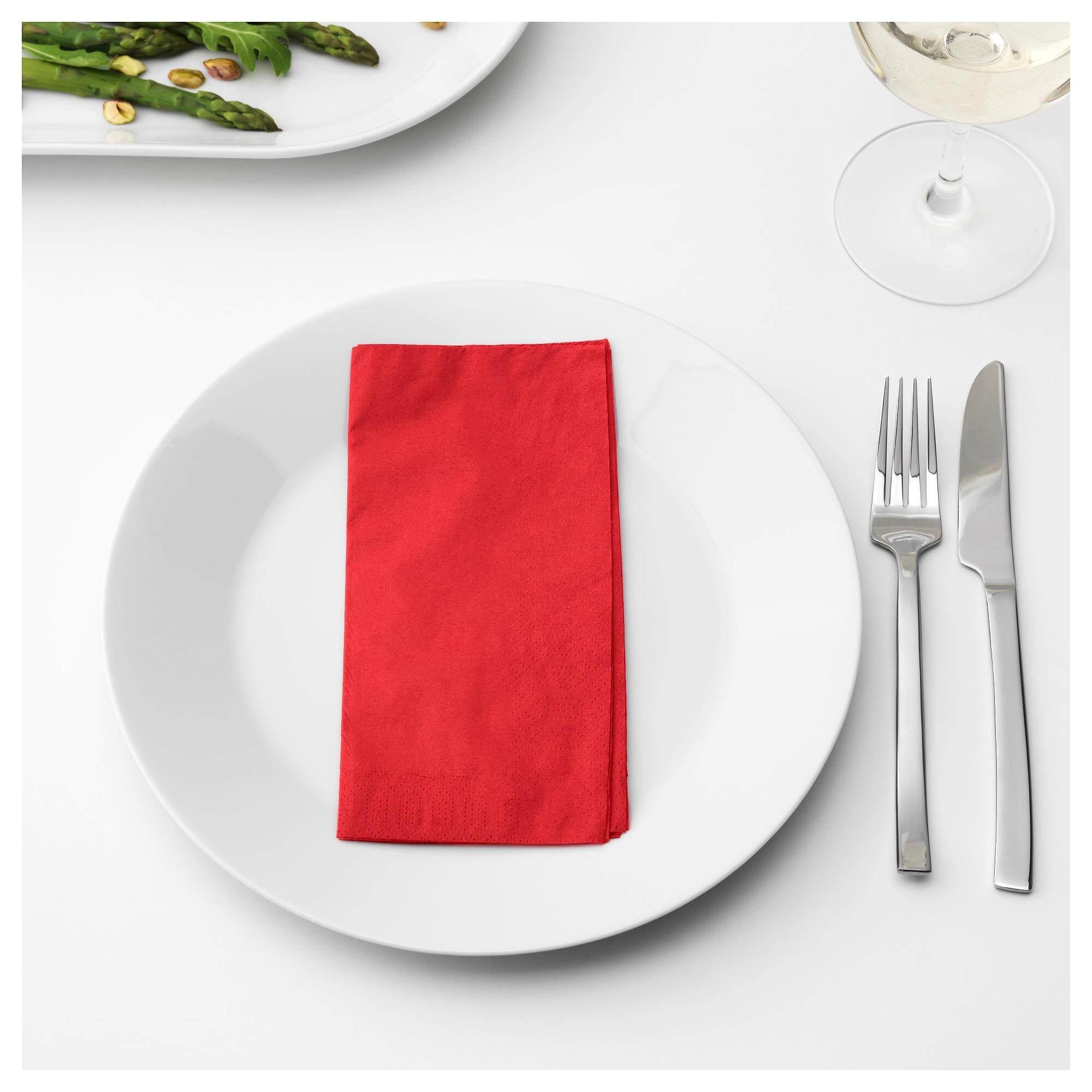 Fantastisk ฟันทัสติสค์ กระดาษเช็ดปาก แดง กระดาษเช็ดปากหนา 3 ชั้น จาก Ikea By Super Ikea.