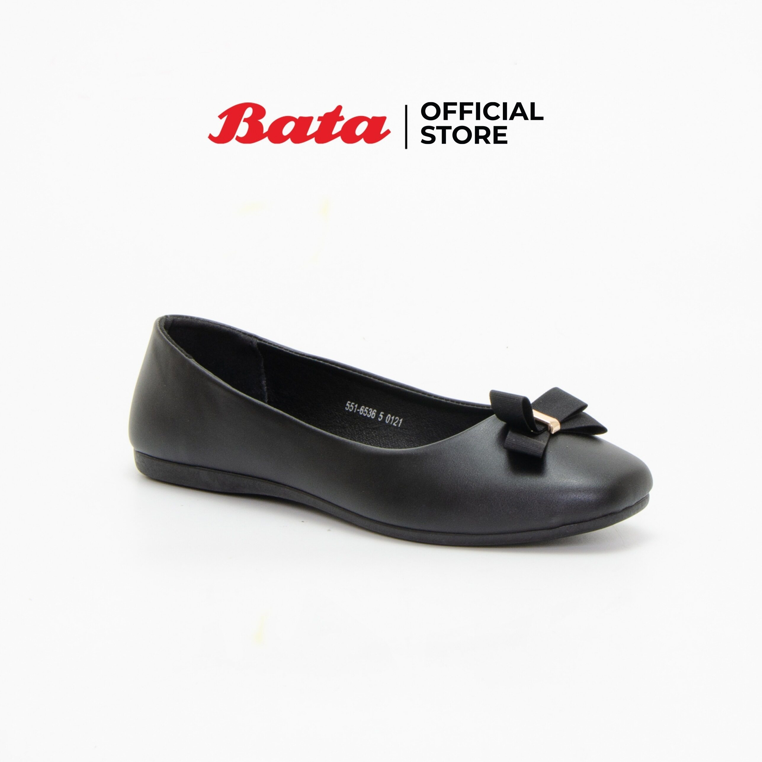 Bata Womens Ballerina Flats รองเท้าบัลเล่ต์แฟลตสำหรับผู้หญิง รุ่น Bindi สีดำ 5516536.
