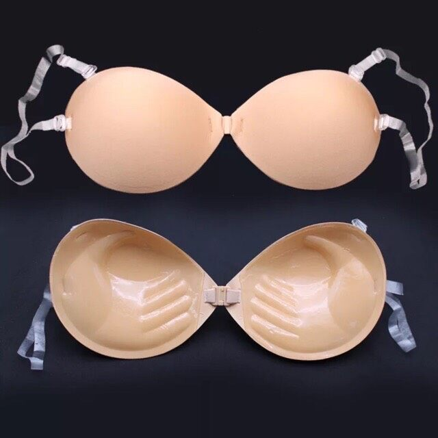 <wa Clothing> บราดูมๆ 3cm รุ่นใหม่กาวเต็มไม่เว้นหัวนม เหนียวขึ้น รัดด้วยสายใสเด้งไม่หลุด.