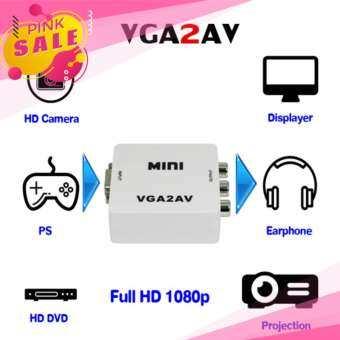 Mini VGA to AV RCA Converter VGA2AV/CVBS+Audio Convertor for PC Computer Laptop