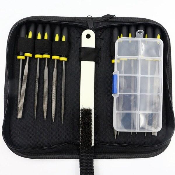 15 Pcs Tools Set Mini Rasp Diamond File Wood Grinding Tool Kit Hand File Set Hand Needles Diy Tools