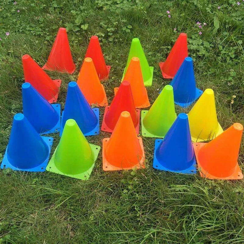 25 Piece Football Conical Cone Set with Training Stand and Bag Suitable for Track and Field Cone Marking Football Children's Sports