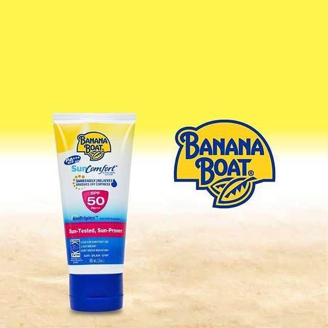 Banana boat Sun comfort SPF 50 PA+++ โลชั่นกันแดดสูตรบางเบาไม่เหนียวเหนอะหนะ