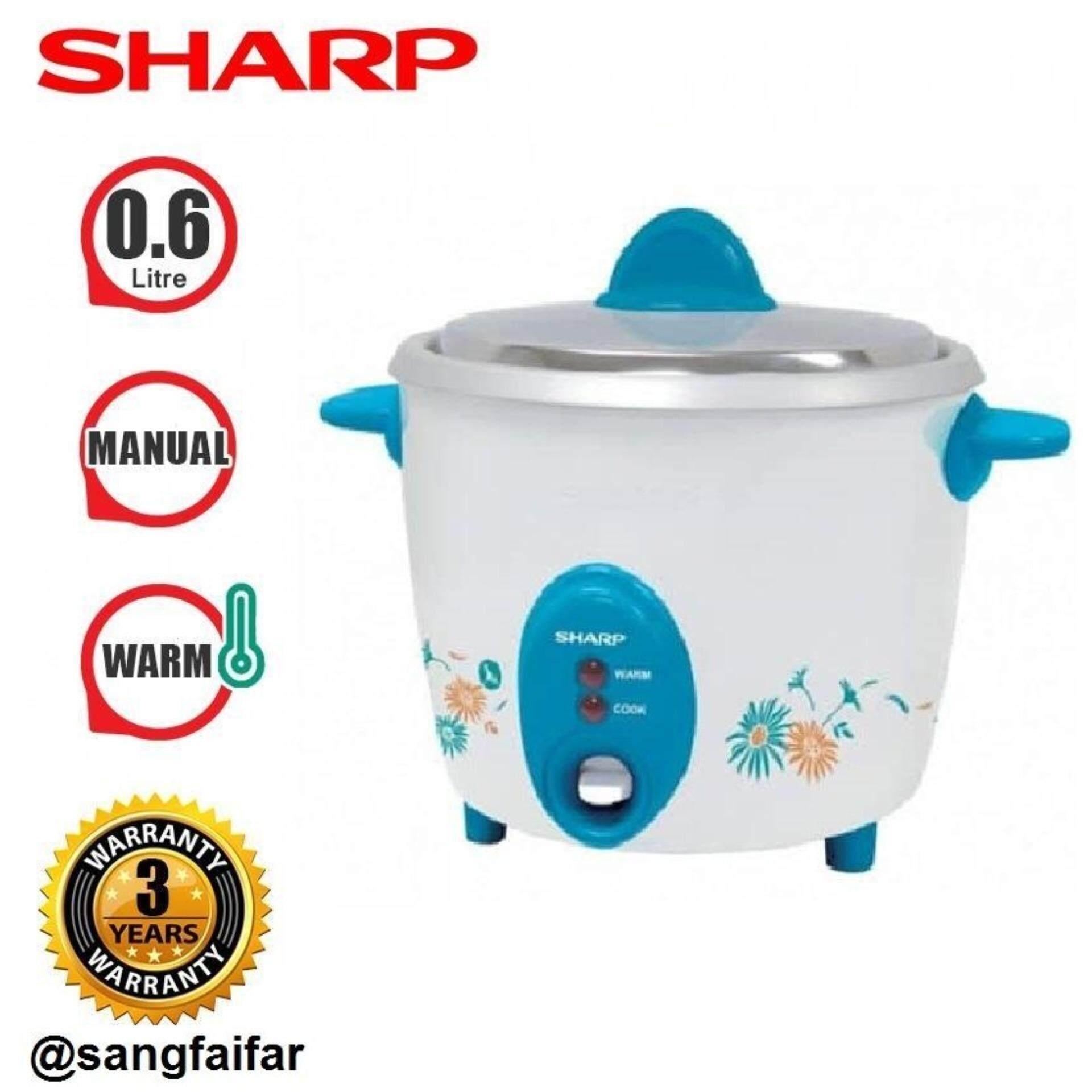 SHARP หม้อข้าว0.6ลิตร  รุ่น KSH-D06 ++คละสี++