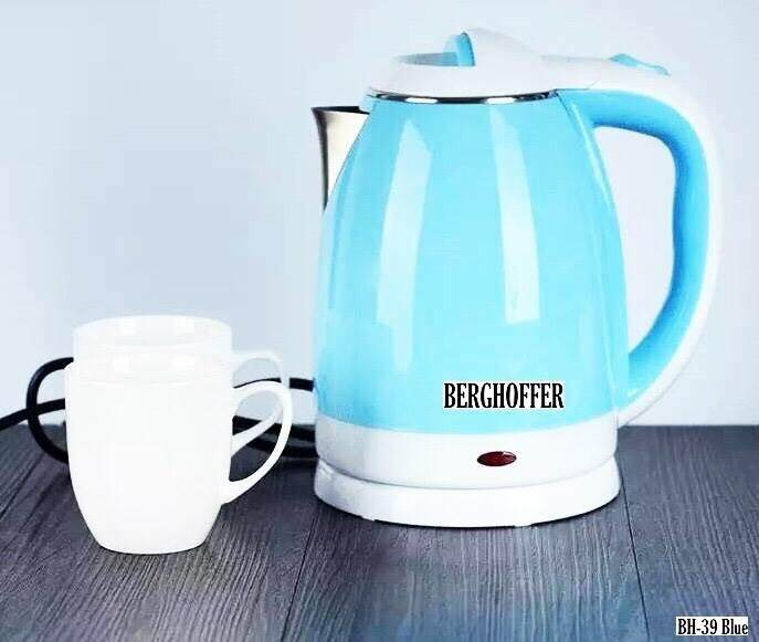 Blue Electric Kettle กาต้มน้ำไฟฟ้า กาต้มน้ำสแตนเลส ความจุ 2.2ลิตร By Pengyue Trade Co. Ltd..