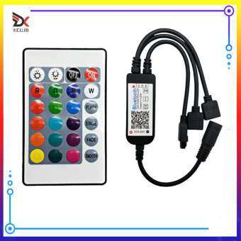 App โทรศัพท์บลูทูธหรี่ LED RGB ควบคุม W/24 Keys IR การควบคุมระยะไกล