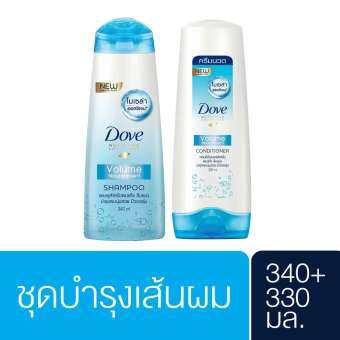 รีวิว DOVE Shampoo Volume Norishment Light Blue 340 ML and DOVE Conditioner Volume Norishment Light Blue 330 ML