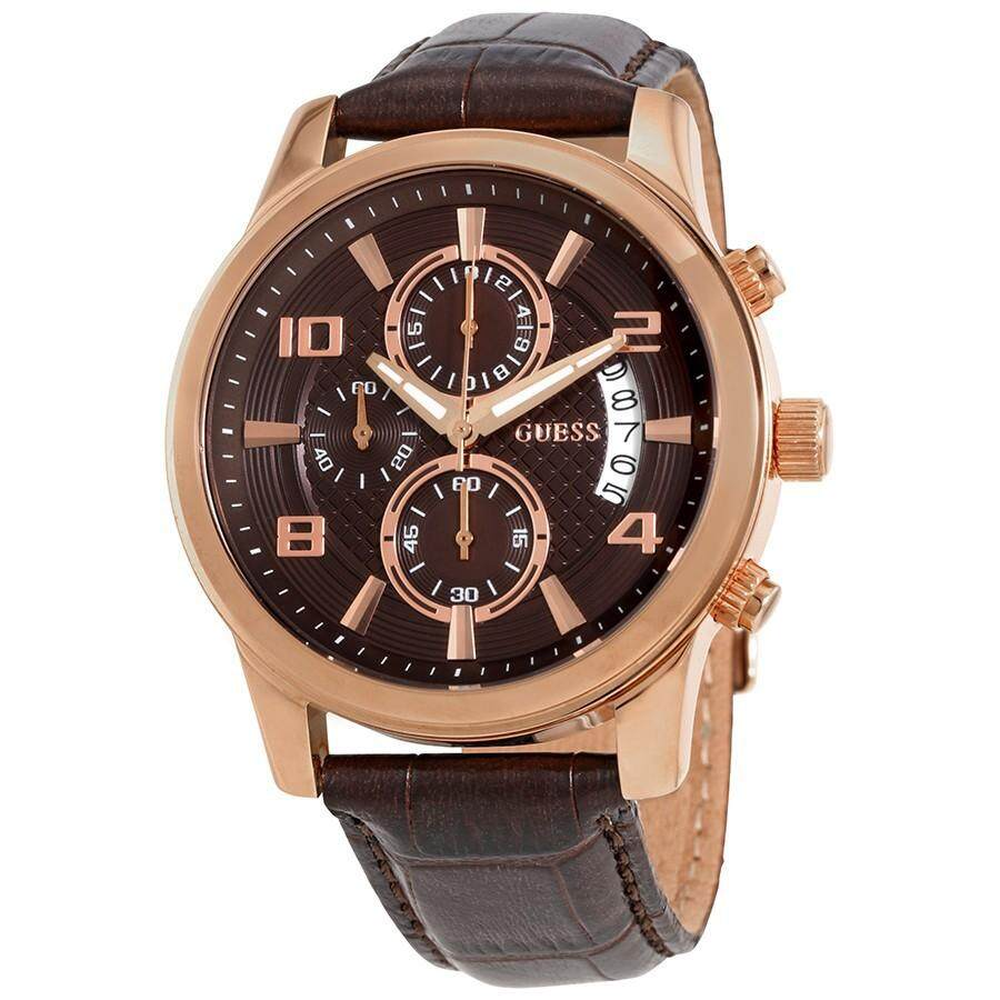 Original Guess W0076G4 Watch Exec Brown Dial Men s Chronograph Watch ready  stcok 09b37aa356
