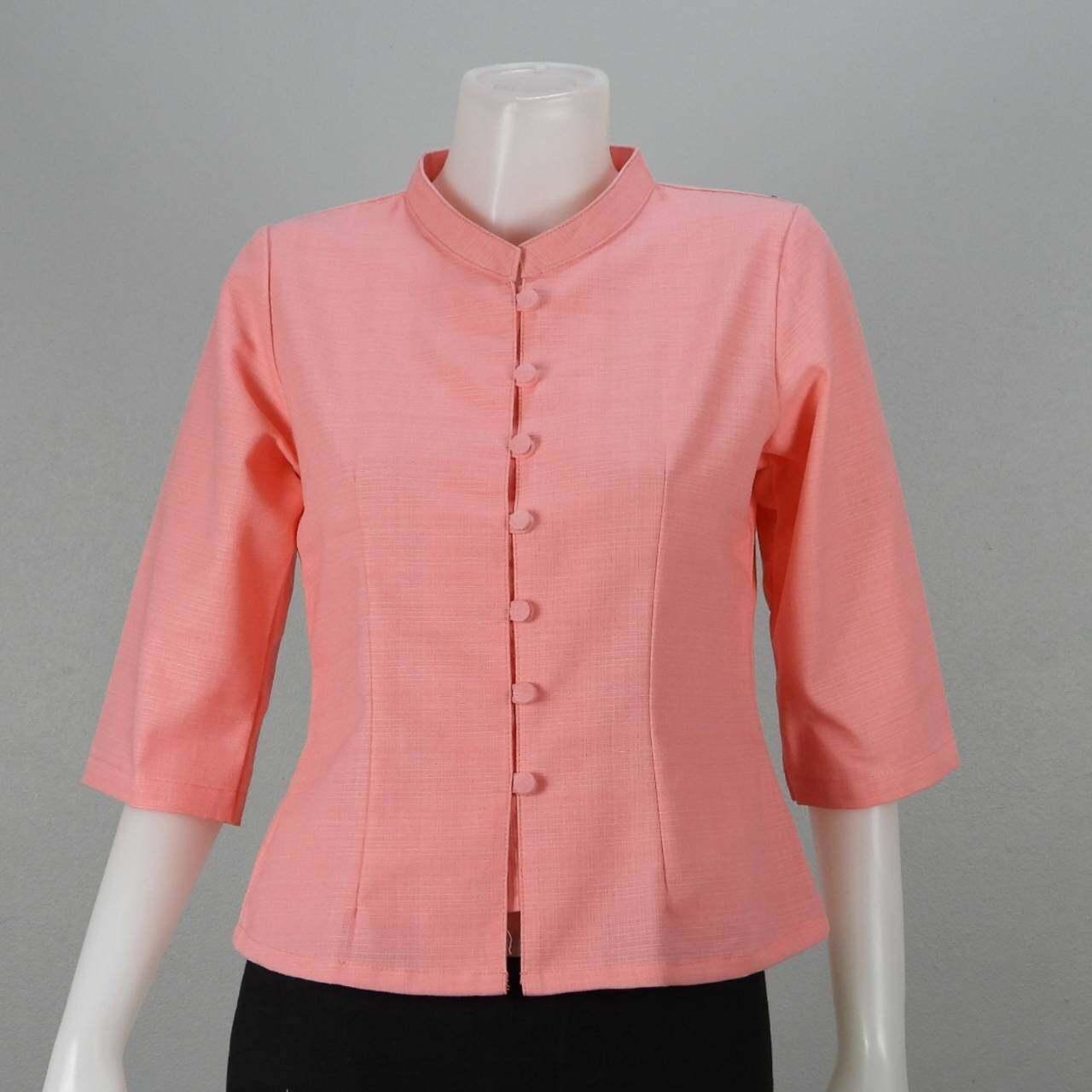 เสื้อผ้าฝ้ายชินมัยพื้นเมือง อก36-42นิ้ว คอจีนแขนสามส่วน ทรงสวยงานตัดเย็บปราณีต มีให้เลือก18สีค่ะ.