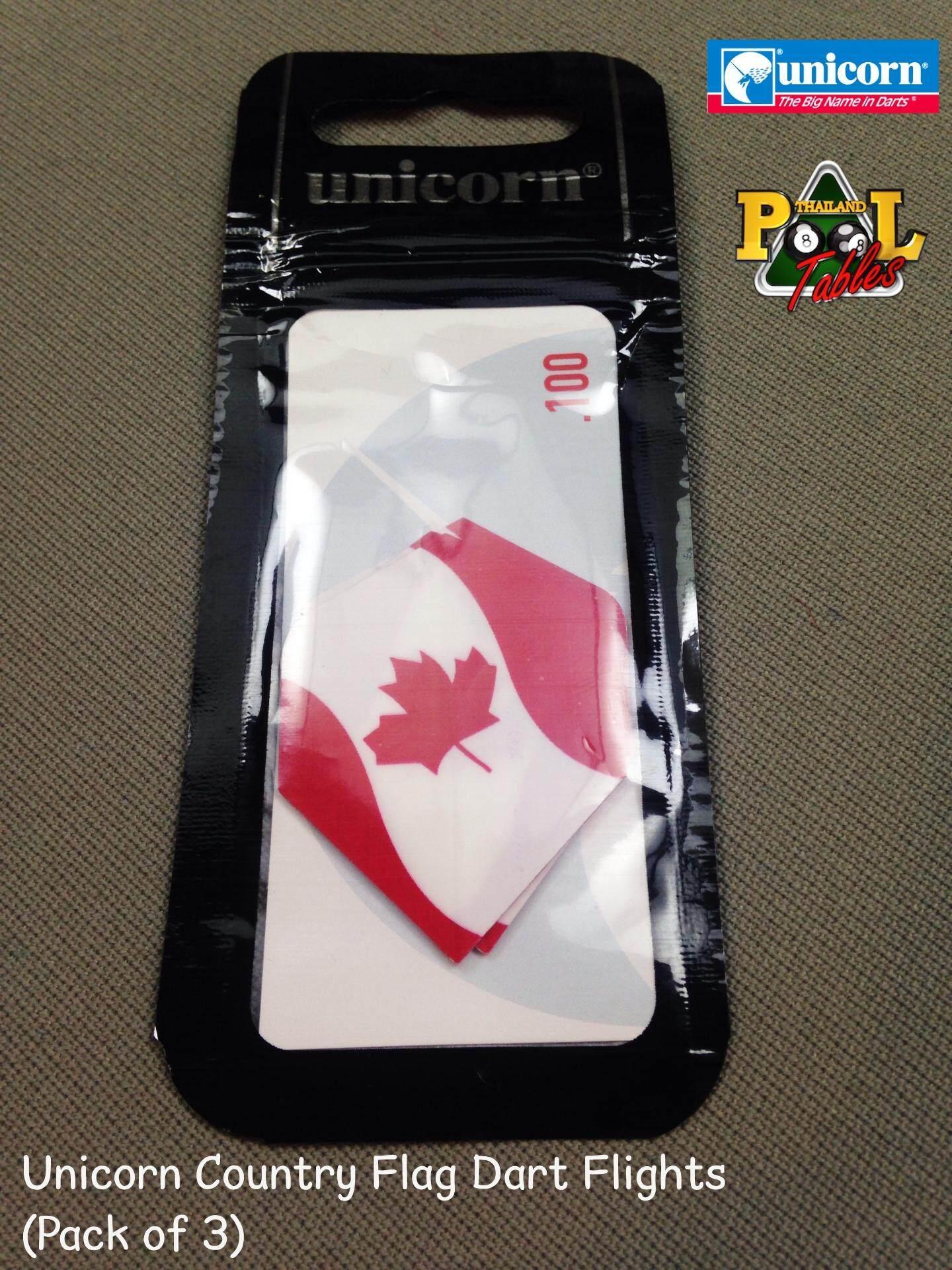 One Set of 3 MAPLE LEAF CANADA FLAG DART FLIGHTS