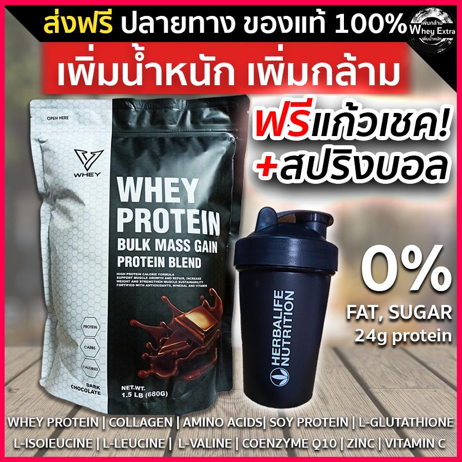 V Whey เวย์โปรตีน เพิ่มน้ำหนัก เพิ่มกล้ามเนื้อ สำหรับคนผอม รสช๊อคโกแล็ต โปรตีน 24g แถมฟรีแก้วเชค ของแท้ มีผล Lab(ส่งฟรี) มีเก็บเงินปลายทาง.