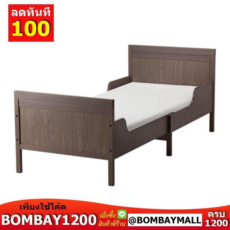 Sundvik ซุนด์วีค โครงเตียงขยาย+พื้นระแนง By Bombaymall.