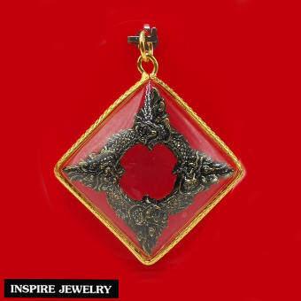 Inspire Jewelry ,จี้บ่วงนาคบาศ บ่วงบาศนาคราช พญานาค บ่วงงูกินหาง แห่งโชคลาภ กินไม่มีหมด ไม่มีอด และสามารถป้องกันภัย พร้อมเชือกญี่ปุ่นและถุงกำมะหยี่