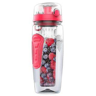 1000ml 32oz Fruit Infusing Infuser Water Bottle Plastic Sports Detox Health thumbnail