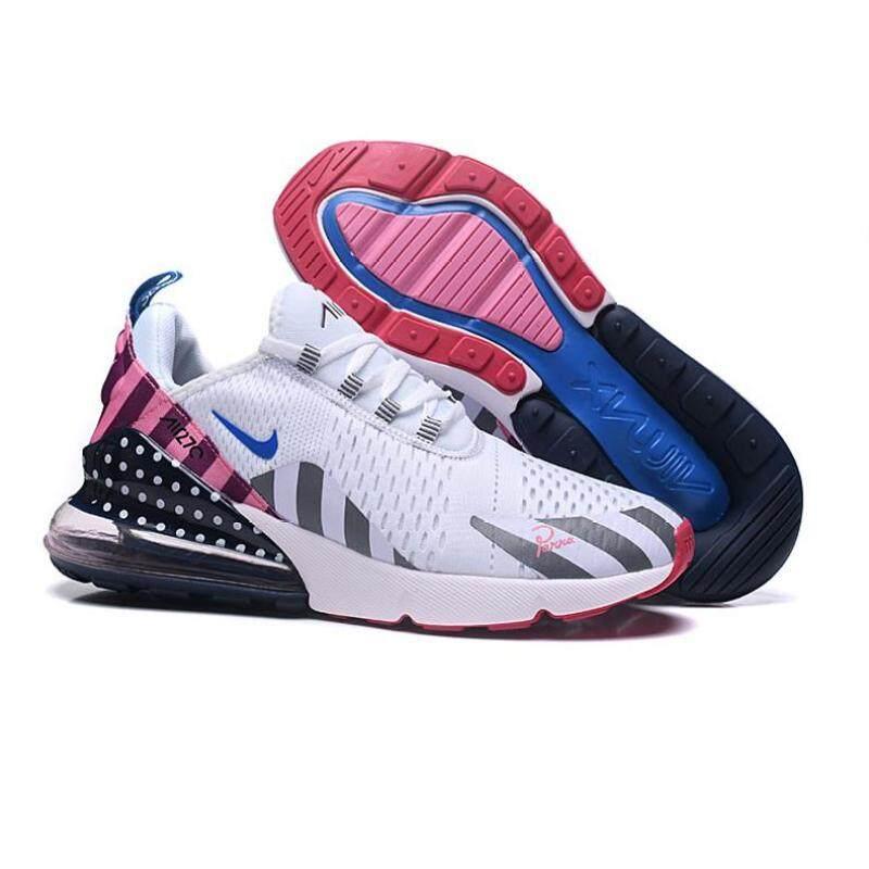 Original NIKE_ Parra X Original NIKE_AIR MAX _ 270 Taman Rainbow Sepatu Lari untuk Pria dan Wanita Olahraga Sneakers