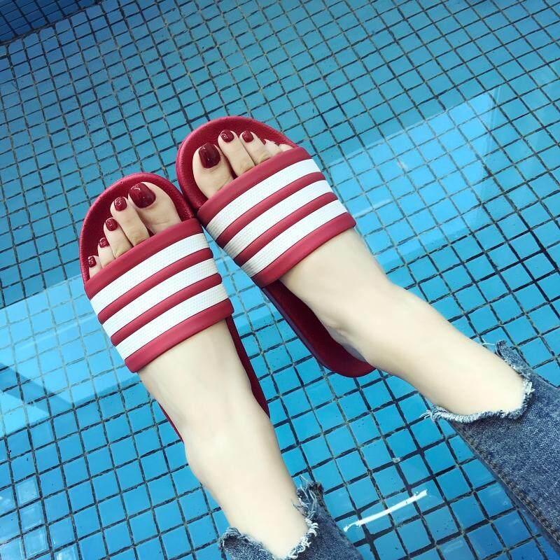 ส่งจากไทยพร้อมส่งxin-แท้!! รองเท้าแตะ (สีดำขาว&สีดำ&สีแดง)ถูกที่สุดในlazada จร้าา(9527).