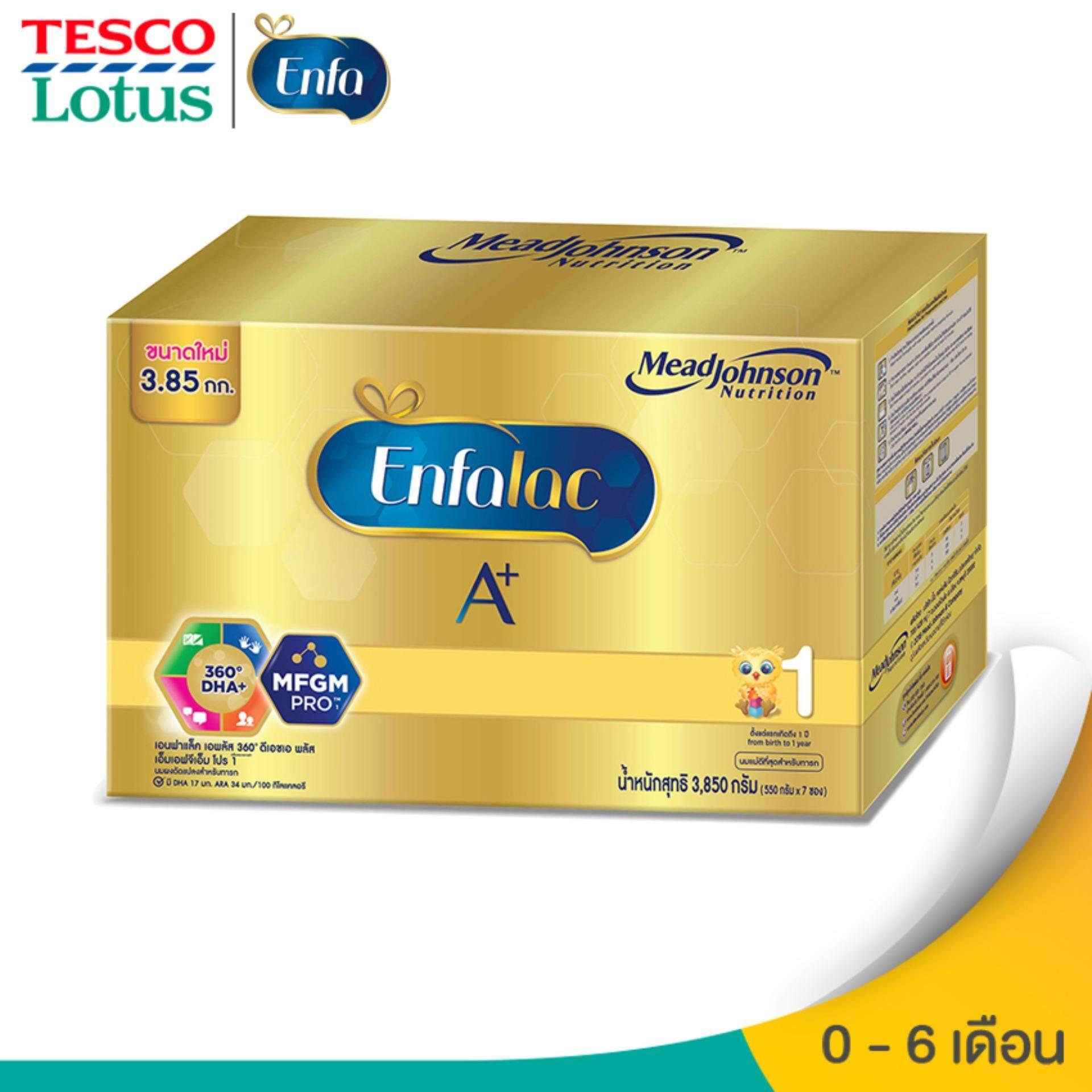 ต้องการซื้อ  ENFALAC เอนฟาแล็ค นมผงสำหรับเด็ก ช่วงวัยที่ 1 เอพลัส 360ํ ดีเอชเอพลัส เอ็มเอฟจีเอ็มโปร 3850 กรัม   ลดราคา ของแท้