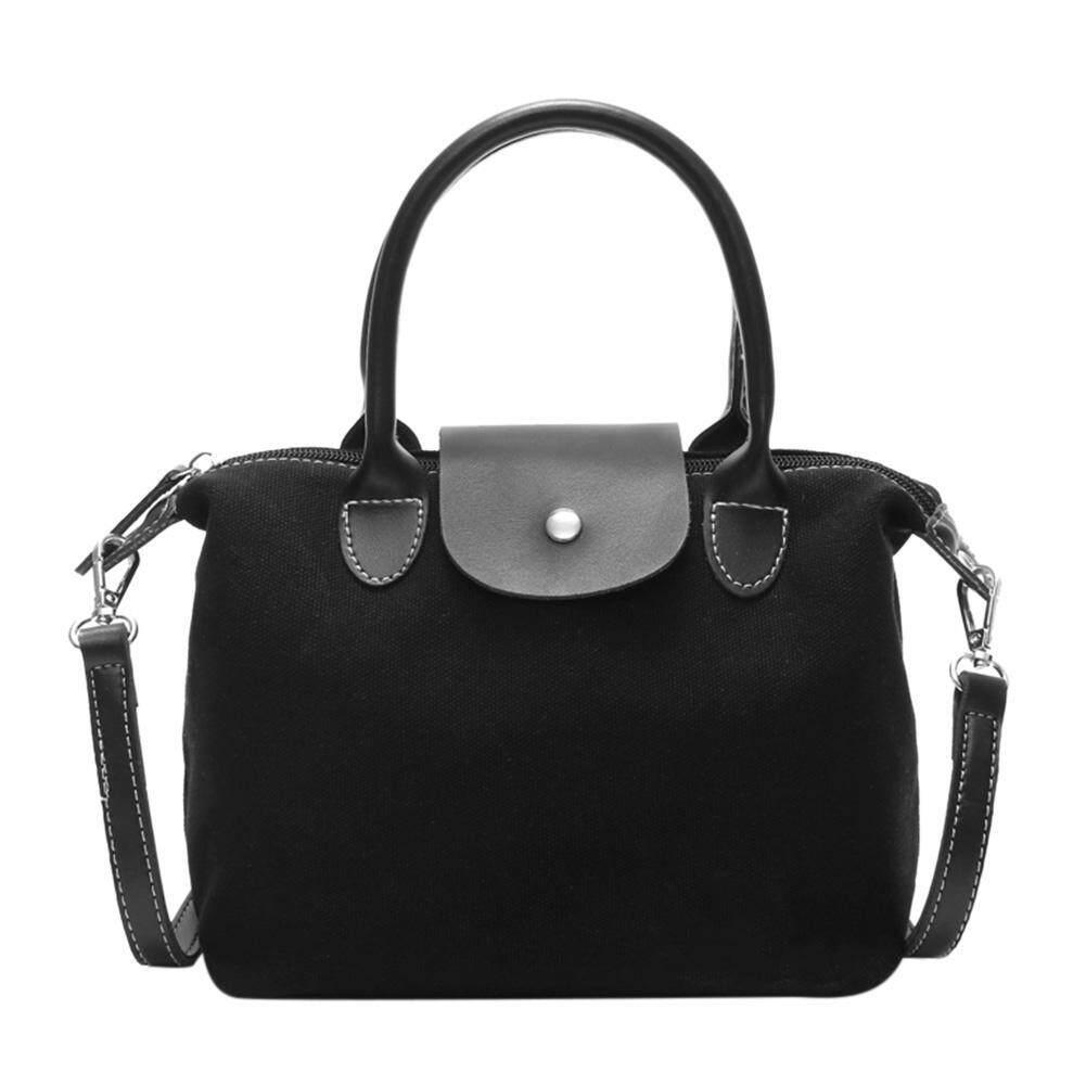 〔sunyueydeng〕Casual Women Shoulder Handbag Canvas Messenger Totes Crossbody Shopping Bag