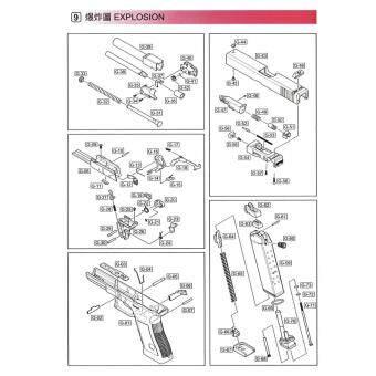 ลูกสูบ #G47-51 WE Glock 17/19 อะไหล่สำรองของแท้จากโรงงานไต้หวัน  อะไหล่ปืนบีบีกัน ส่งไว เก็บเงินปลายทางได้ / WE Glock 17/19 Loading Nozzle
