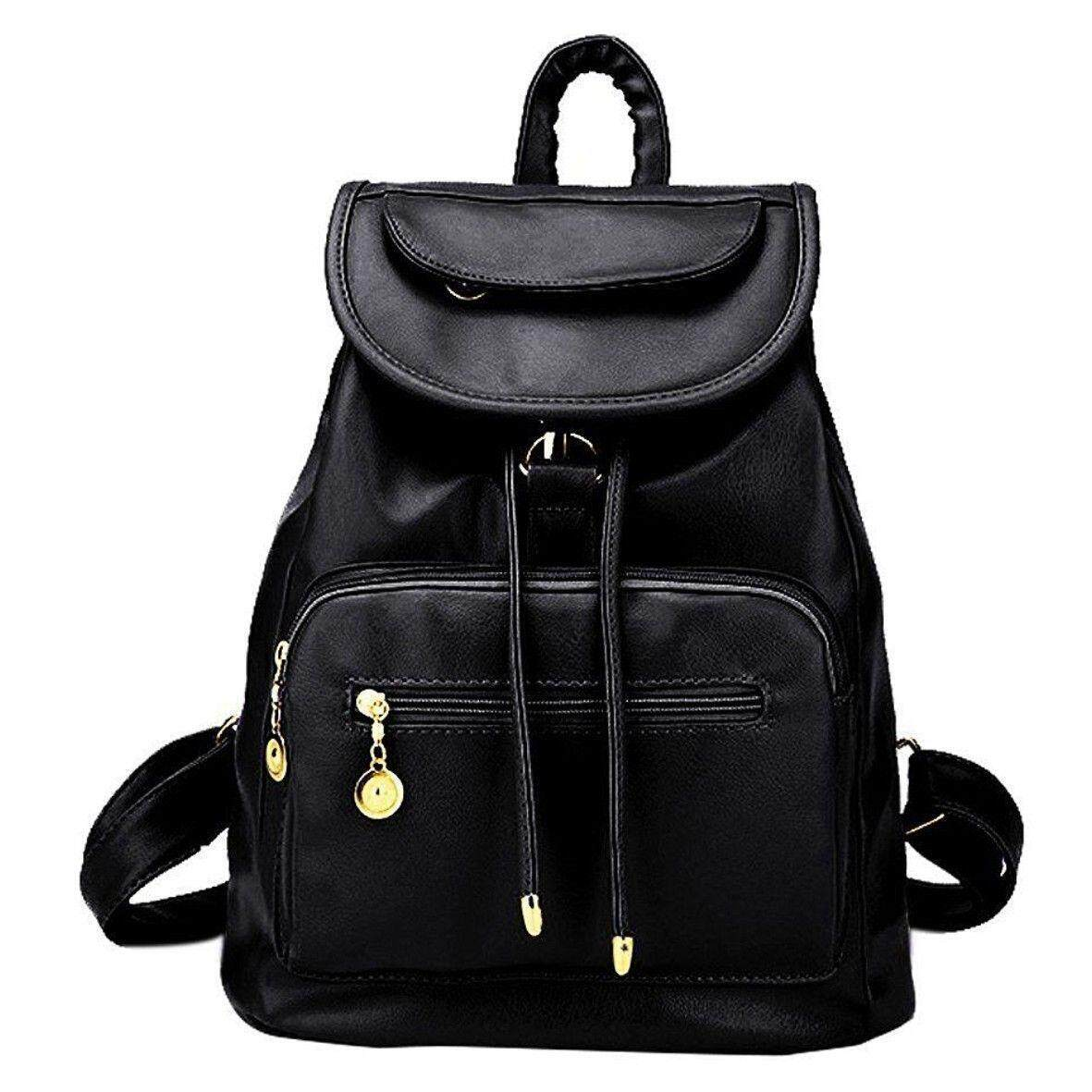c5842e35aca7 Lady Women Leather Backpack School Rucksack College Shoulder Satchel Travel  Bag