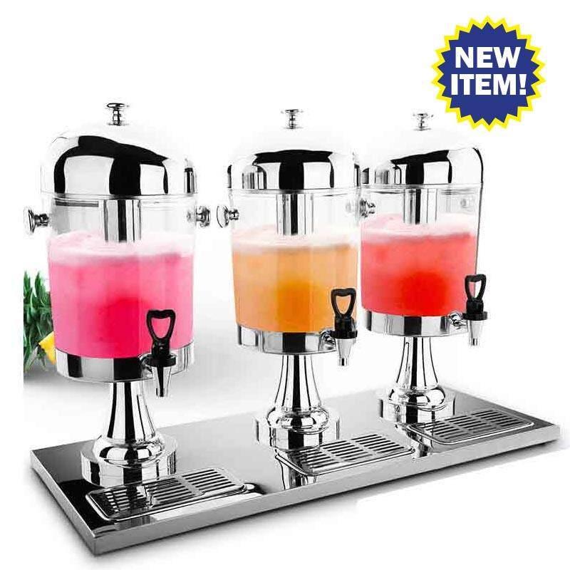 โถจ่ายน้ำหวาน: 3 โถ ขนาดโถละ 8 ลิตร ทำจาก สแตนเลสอย่างดี J201800003 (Juice Dispener 8Lx3)