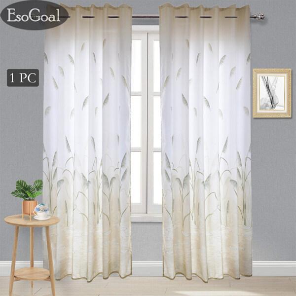 EsoGoal Rèm Màn Cửa Rèm cửa sổ Half Curtain Blinds Drapes Jacquard Reed Print Soft Curtains 100x270cm 1 Panel for Home, Hotel, Cafe, Office