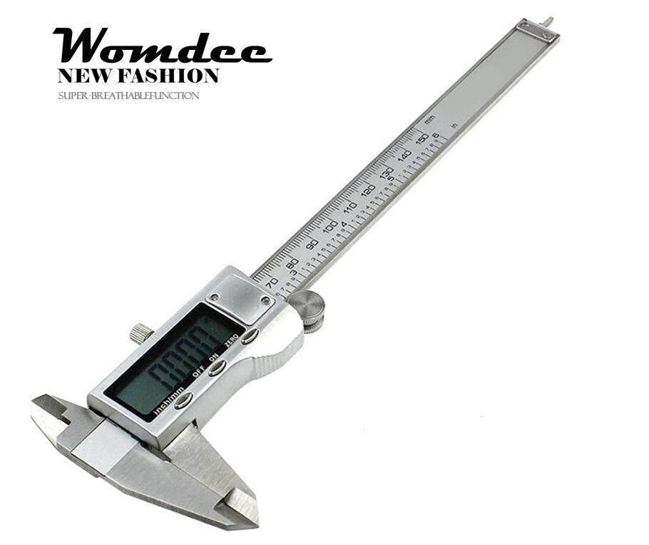 Womdee6inch 150 มิลลิเมตรดิจิตอล Caliper เหล็กกล้าไร้สนิมอิเล็กทรอนิกส์ Vernier ไมโครมิเตอร์ Guage - นานาชาติ By Womdee.