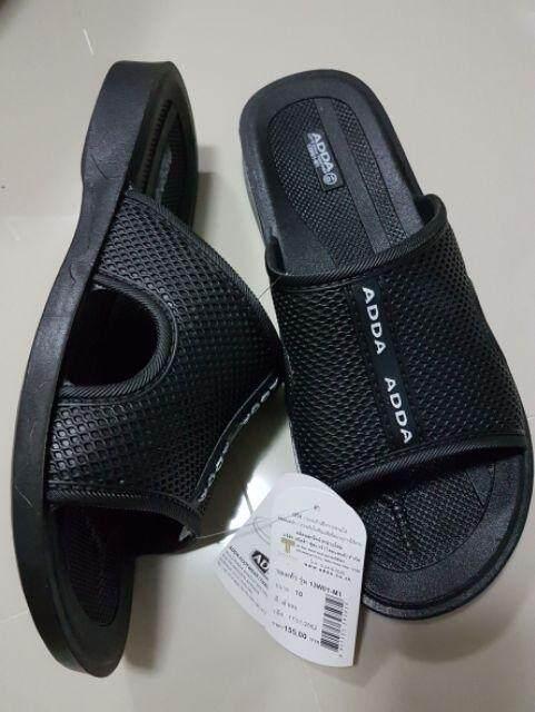 รองเท้าแตะชาย รองเท้าแตะแบบสวม adda 13W01 !!ถูกมาก!! สีดำ ยางใส่นุ่ม ใส่สบายๆ
