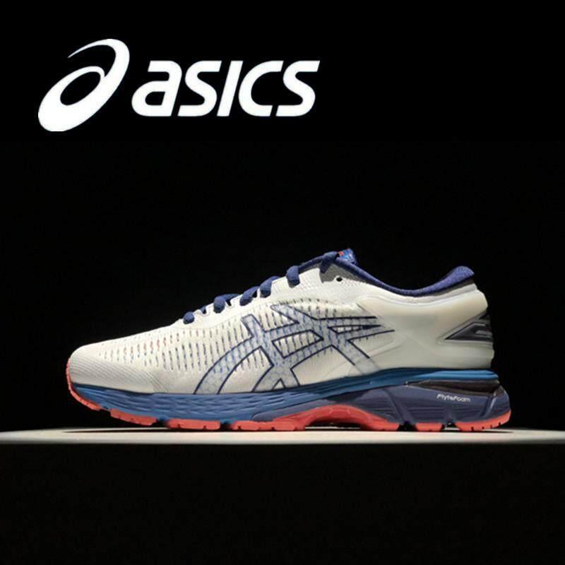 chaussures de sport f4271 cd17f Asics Gel Kayano 25 LITE-SHOW Men's Running Shoes Lightweight White Blue