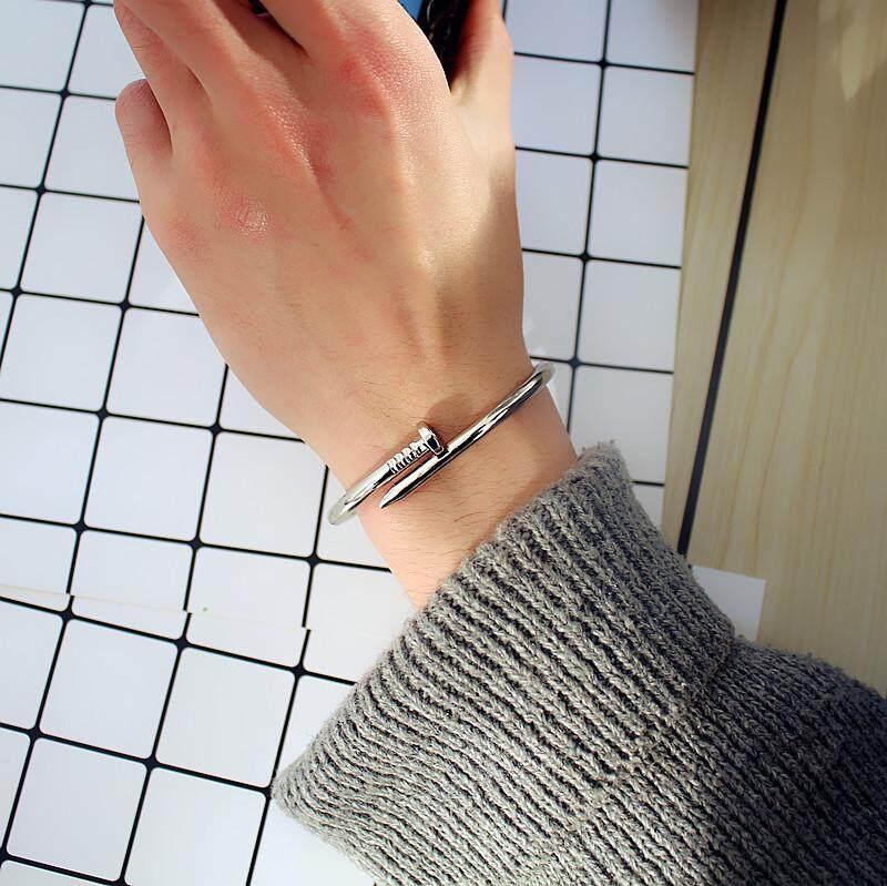 Nail Bracelet Silver ข้อมือตะปู งานสแตนเลสแท้ By Import Beautyshop.