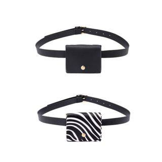 TELESCOPE Hot 2 In 1 Thin Waist Mini Coin Purse Female Girdle Waist Bag Belt thumbnail