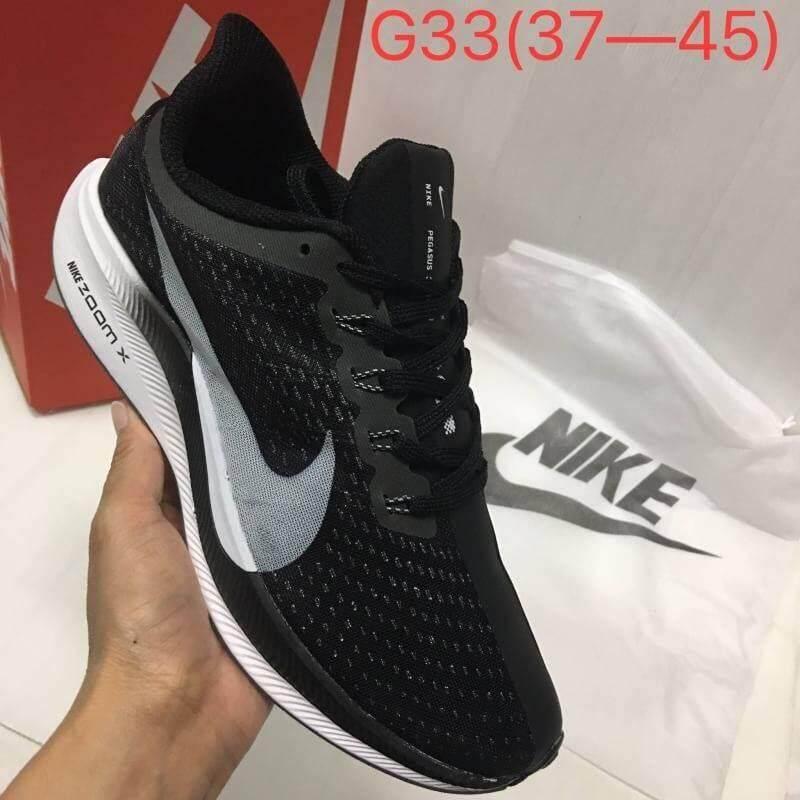 รองเท้าผ้าใบไนกี้ รองเท้าวิ่งผู้หญิง รองเท้าวิ่งnike Zoomx Pegasus 35 Turbo-Black Tm รุ่นขายดี ยอดนิยม(new).