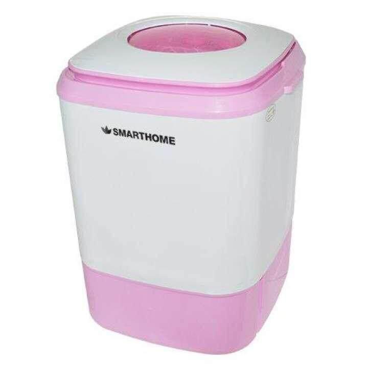 เครื่องซักผ้ามินิกึ่งอัตโนมัติ 4 Kg. รุ่น Sm-Mw2502 By Smatheartbee.