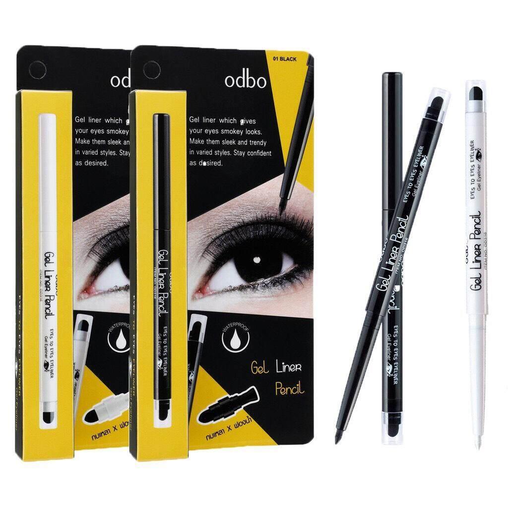 (od316) Odbo Gel Liner Pencil ดินสอเขียนขอบตาแบบออโต้พร้อมกบเหลา.