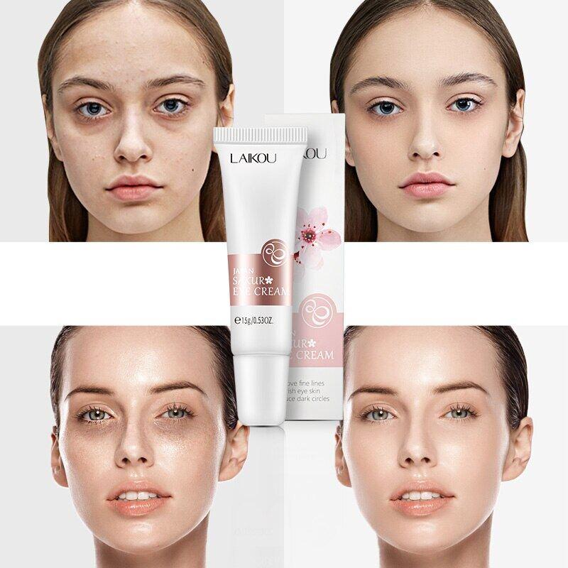 Laikou ครีมบำรุงผิว ครีมบำรุงผิวรอบดวงตา อายครีม สกินแคร์ แอนตี้ริงเคิล ลดเลือนริ้วรอยรอบดวงตา Eye Cream Sakura Serum Anti-Wrinkle Anti-Age Remover Dark Circles Fine Lines Eye Care Against Puffiness And Bags Firming.