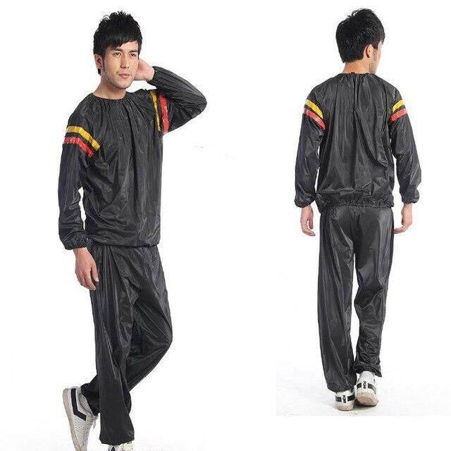 ชุดเซาน่าลดน้ำหนักสำหรับเผาผลาญไขมันในฟิตเนส ชุดกระตุ้นการขับเหงื่อในยิมและเสื้อช่วยลดน้ำหนัก ชุดกีฬาแบบ Unisex ลดน้ำหนักสำหรับการขึ้นชก Mma Weight Loss Sauna Suit For Fat Burning Fitness Gym Perspiration Suit And Slimming Shirt Unisex Sports - Black By Sairoong.