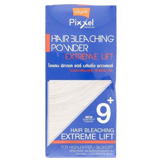 ผงฟอกสีผม สำหรับทำสีสว่างจัด โลแลน(15g.+50ml.)แบบซอง Lolane Pixxel Hair Bleaching Powder 9+ Extreme Lift.