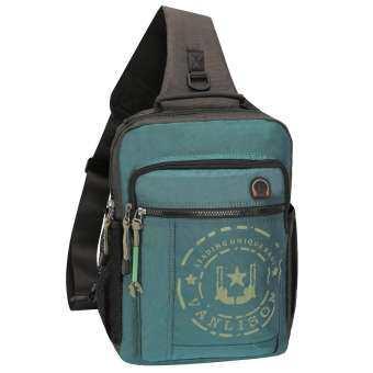 กระเป๋าสะพายกระเป๋าเป้สะพายหลังข้ามกระเป๋ากระเป๋าเป้สะพายหลังกระเป๋าเดินทางลำลอง (สีดำ เขียว สีน้ำเงิน)
