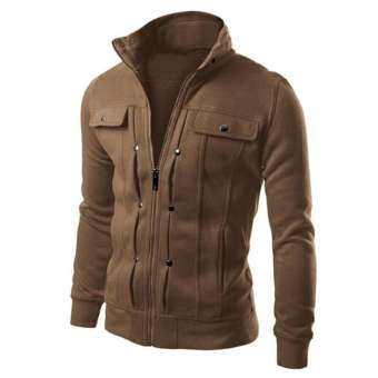 แฟชั่นบุรุษออกแบบเสื้อสเวตเตอร์ถักเสื้อแจ็คเก็ต - นานาชาติ