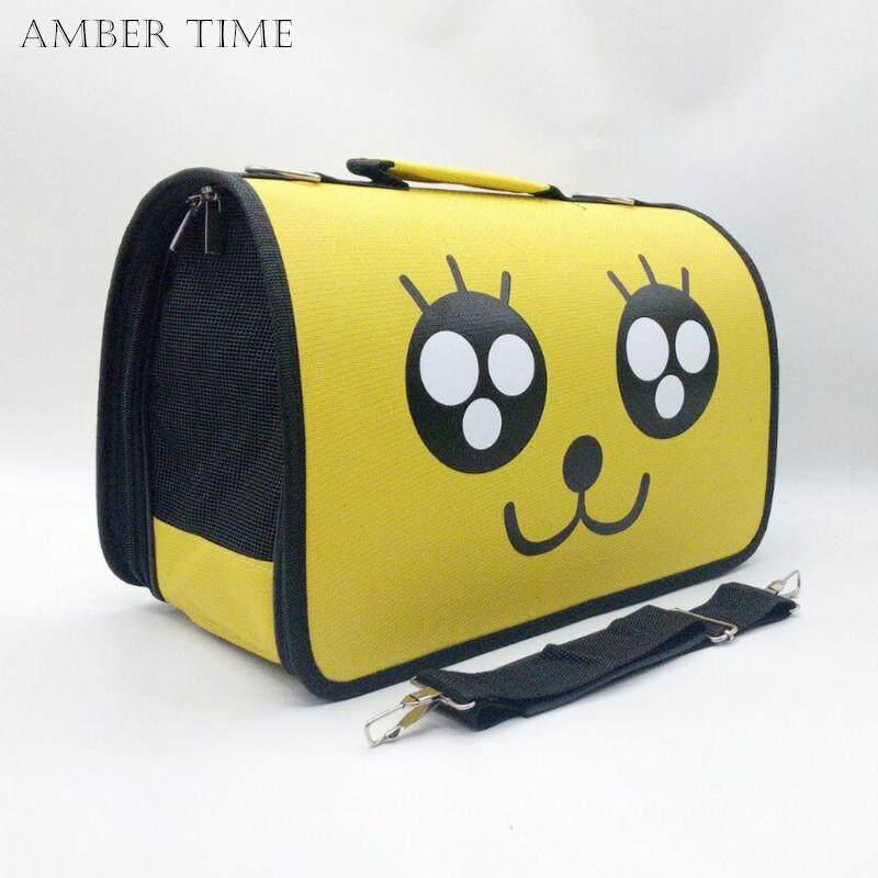Amber Time แบบพกพากระเป๋าถือสัตว์เลี้ยงสบาย Travel กระเป๋าถือสำหรับแมวสุนัขลูกสุนัขสัตว์ขนาดเล็กข้อมูลจำเพาะ: กลาง40*21*27.