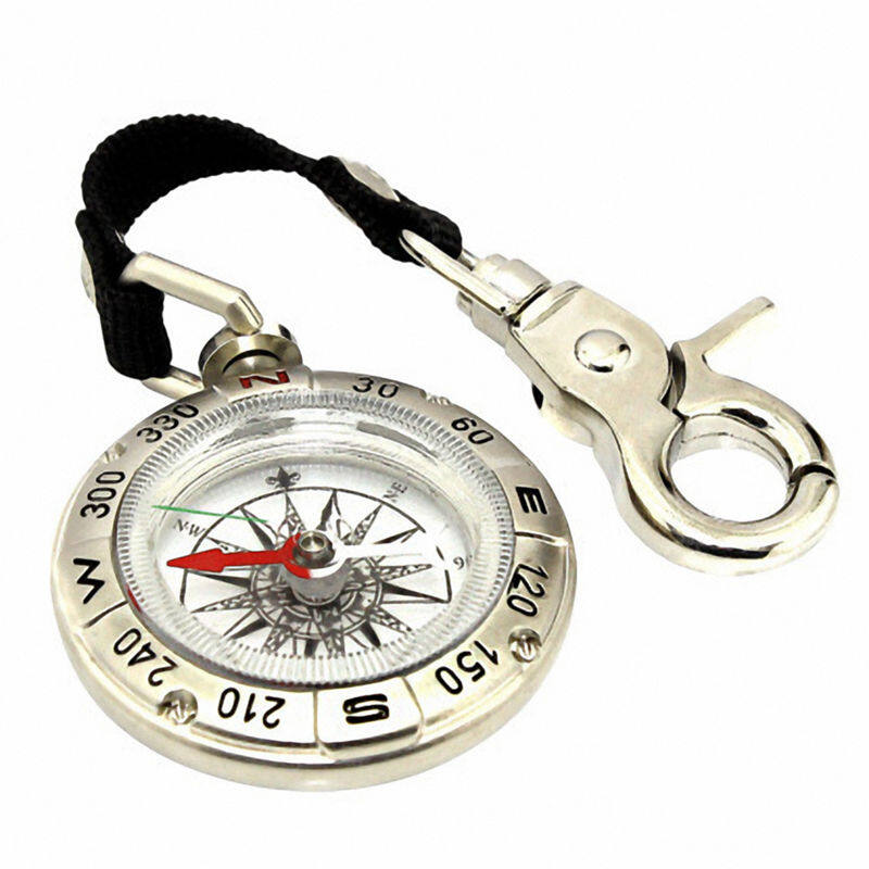 Outdoor Compass Keychain Car Key Ring key Chain Survival Compass Hiking Camp