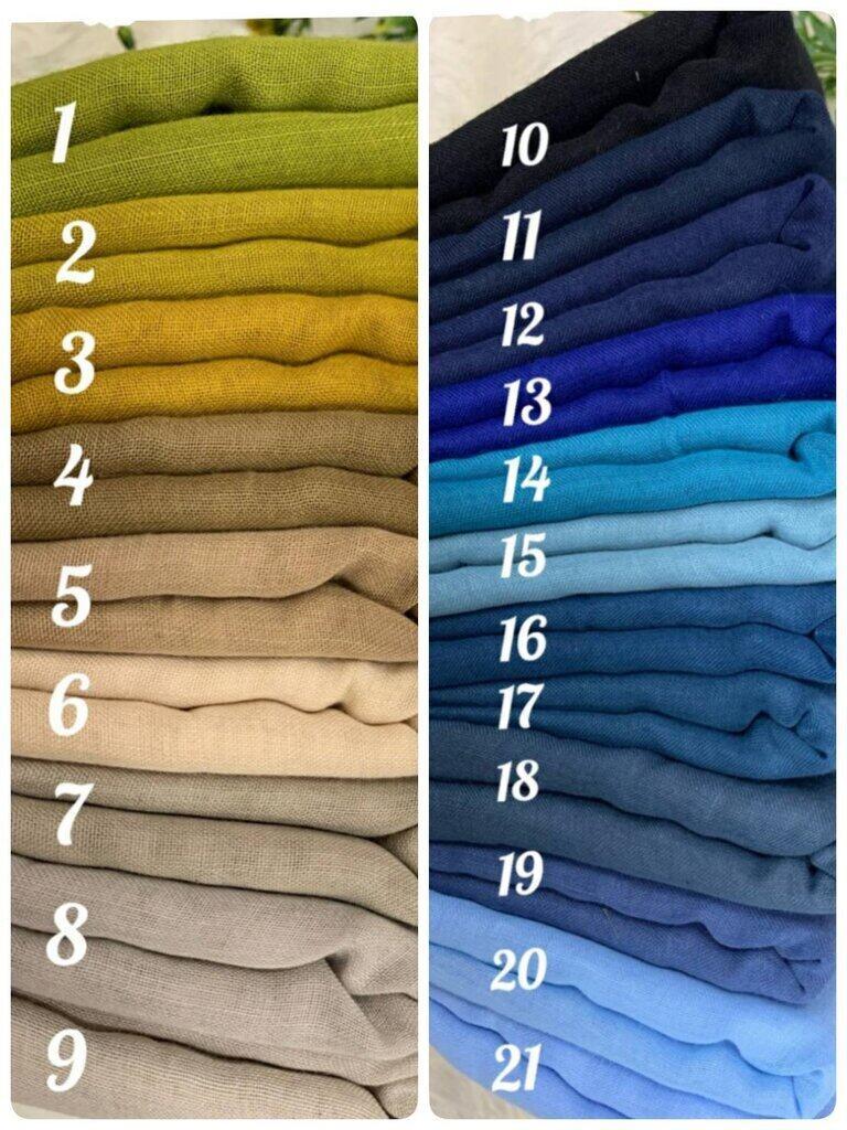 (ระบสีในแชท) ผ้าคลุุมฮิญาบ ฮิญาบมุสลิม ผ้าคลุมผมฮิญาบ ผ้าบาวาคอตตอน สีพื้น แบบสามเหลี่ยม พันเอง เป็นทรงง่าย ขนาดหลากรู