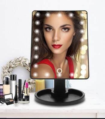 Large Led Mirror กระจกไฟแต่งหน้าพร้อมไฟ ความงามระดับดารา เซเล็ป 22led Make Up Mirror (ปุ่มเปิดไฟระบบสัมผัสด้านหน้า).