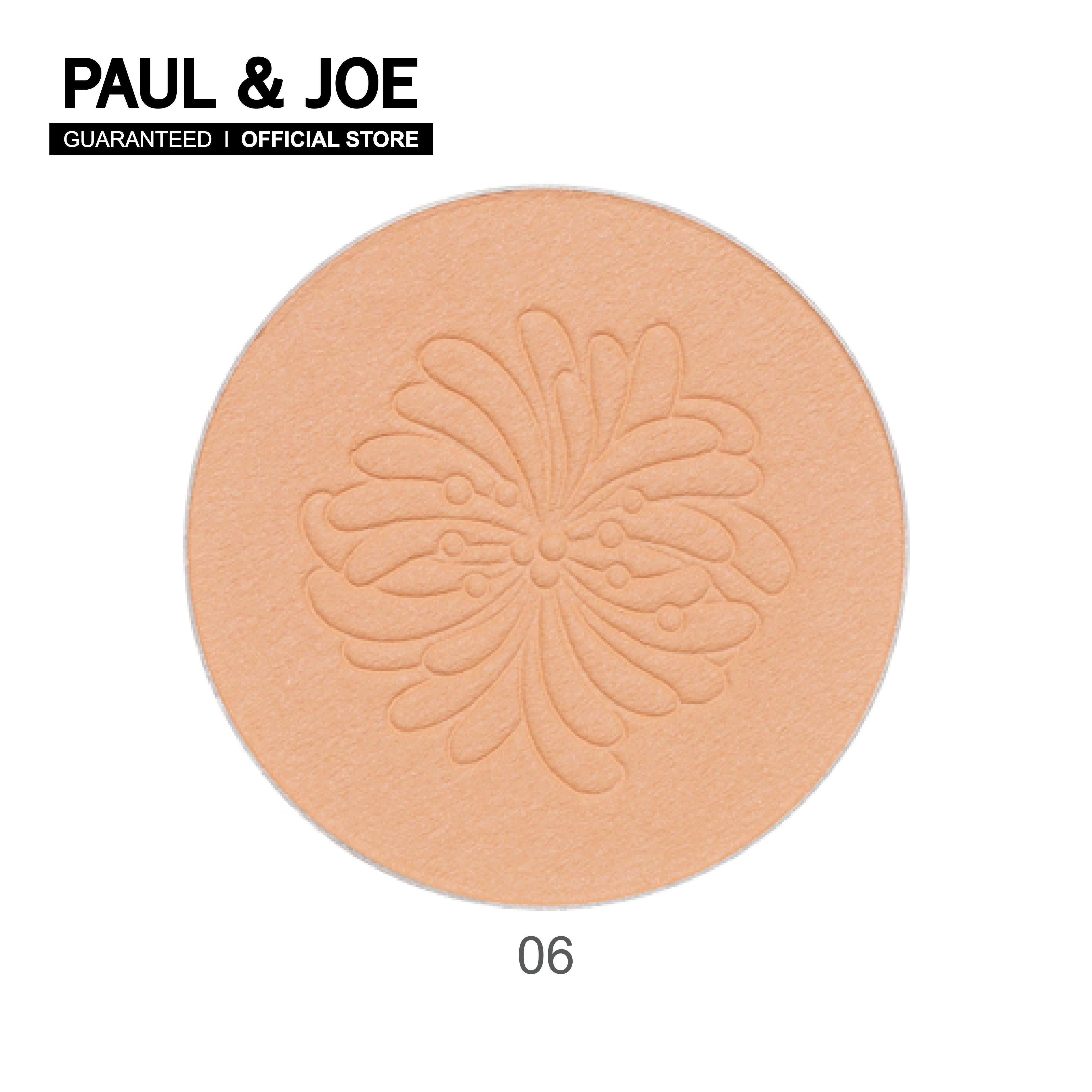 Paul & Joe Pressed Face Powder (refill) แป้งอัดแข็งโปร่งแสง เนื้อละเอียดมอบมิติให้ผิวสวยอย่างสมบูรณ์ ช่วยควบคุมความมันยาวนานตลอดวัน พร้อมทุกมุมมอง.