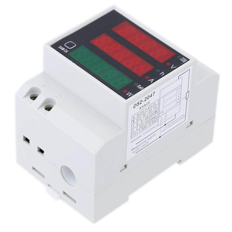 200-450V Multifunctional Ampere meter Digital DIN Rail Current Ampere meter Voltmeter Indicator Power Meter