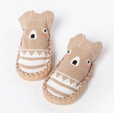 รองเท้าเด็ก ลายการ์ตูนสัตว์น่ารักถุงเท้าเด็กหัดเดินทารกเด็กแรกเกิดชายหญิง.
