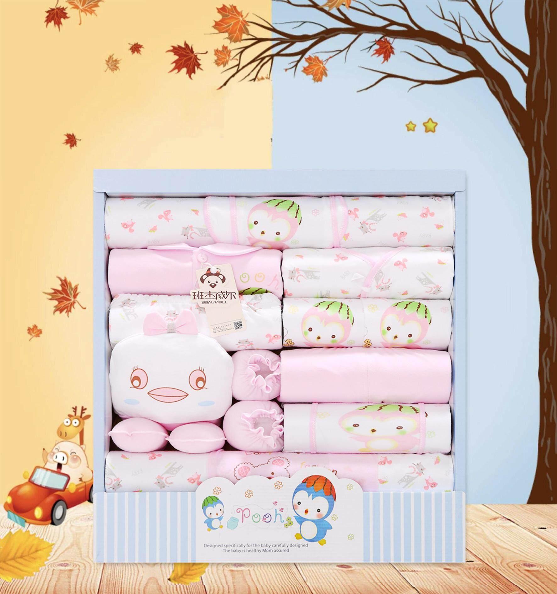 โปรโมชั่น Baby ชุดของขวัญสำหรับเด็กอ่อน 18 ชิ้น เพนกวีน หนาพิเศษ(แพ็คกล่องตามรูป100%)