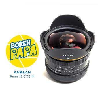 Kamlan 8mm F3 เลนส์ Fisheye เลนส์มือหมุน สำหรับใส่กล้อง Canon EOS M-
