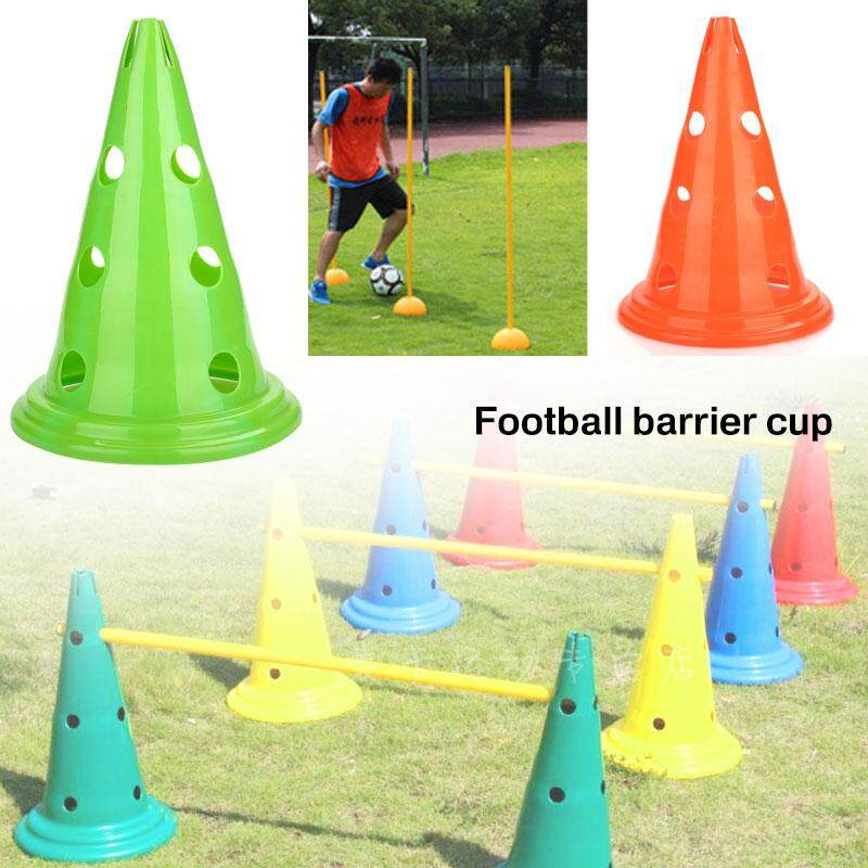 เชคราคา Professional football training equipment-Professional Brand New High Quality Lightweight Convenient Fashion Durable Soccer Marker Disc Court Marker Cones Football PE Training Barrier สี : เหลือง