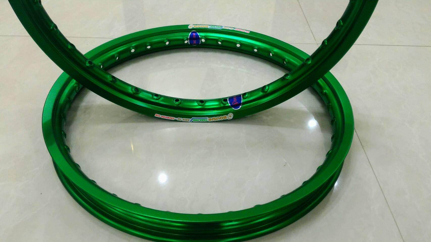 ขอบล้อสีเขียวเข้ม Boushi Thailand Champion Rim สวยทน ขนาดขอบล้อ 1.40x17 ใส่กับรถมอเตอร์ไซค์ได้ทุกรุ่น(ส่งฟรีจ้า) By Itonline.